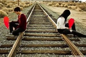 Pode olhar para a pessoa ou deixar o trem passar