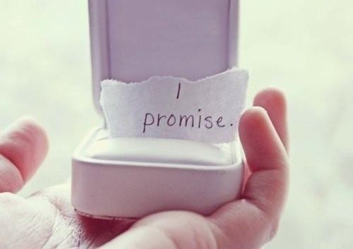 Não faça promessas de amor