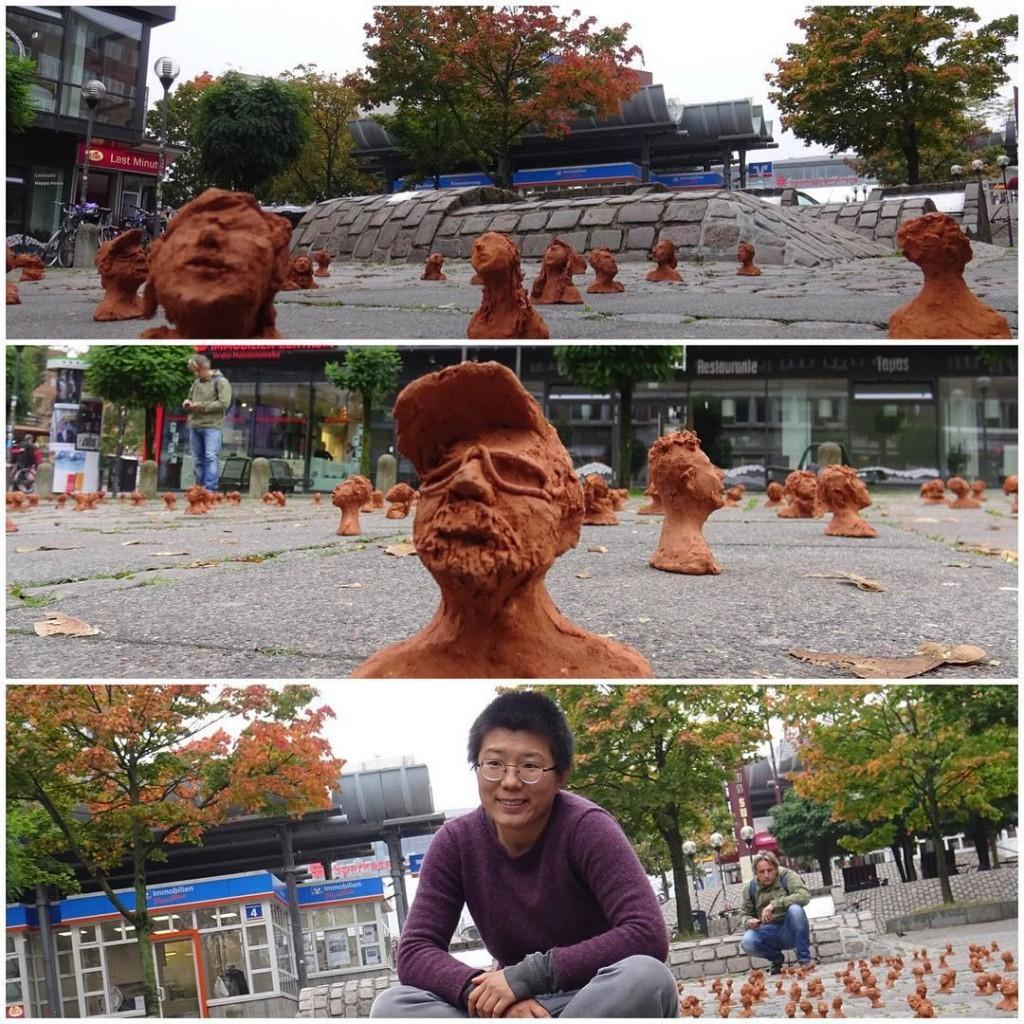 Arte na rua na cidade de Kiel da artista Weiqihellip
