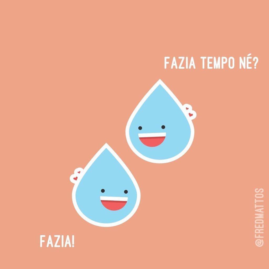 A conversas dessas duas lgrimas representa o jeito que vochellip