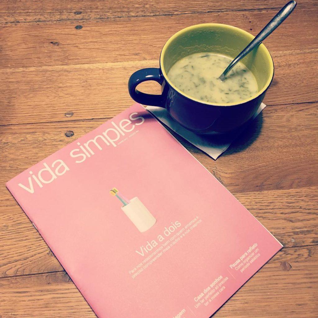Caldo verde e leitura da Vida Simples de junho Participohellip